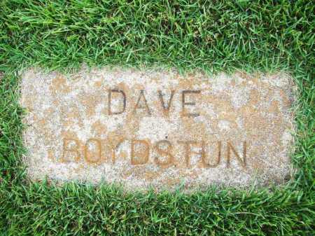 BOYDSTUN, DAVE - Benton County, Arkansas | DAVE BOYDSTUN - Arkansas Gravestone Photos