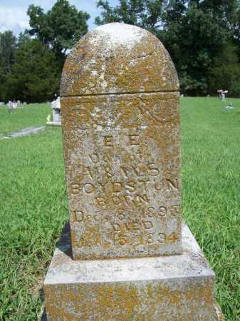 BOYDSTUN, E E - Benton County, Arkansas   E E BOYDSTUN - Arkansas Gravestone Photos
