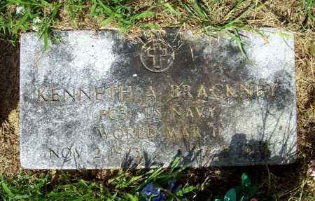 BRACKNEY (VETERAN WWII), KENNETH A. - Benton County, Arkansas | KENNETH A. BRACKNEY (VETERAN WWII) - Arkansas Gravestone Photos