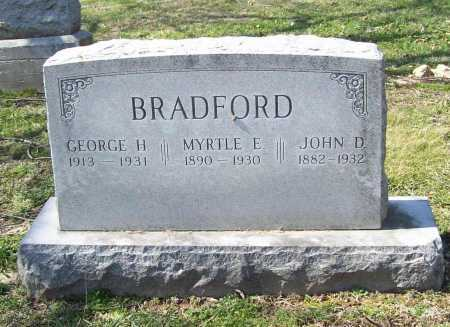 BRADFORD, GEORGE H. - Benton County, Arkansas | GEORGE H. BRADFORD - Arkansas Gravestone Photos