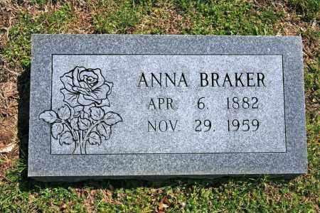 BRAKER, ANNA - Benton County, Arkansas | ANNA BRAKER - Arkansas Gravestone Photos