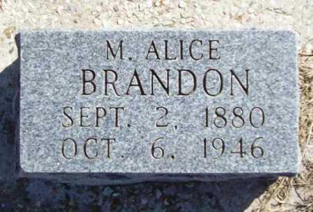 BRANDON, M ALICE - Benton County, Arkansas | M ALICE BRANDON - Arkansas Gravestone Photos