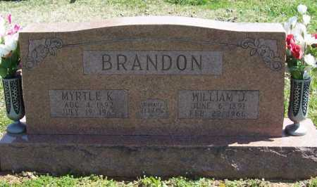 BRANDON, WILLIAM J. - Benton County, Arkansas | WILLIAM J. BRANDON - Arkansas Gravestone Photos