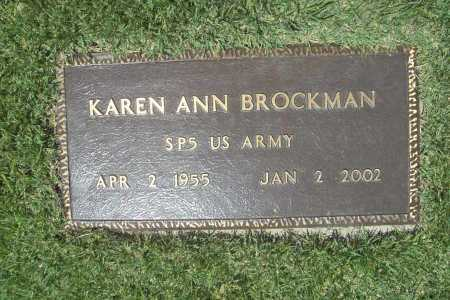 BROCKMAN (VETERAN), KAREN ANN - Benton County, Arkansas   KAREN ANN BROCKMAN (VETERAN) - Arkansas Gravestone Photos