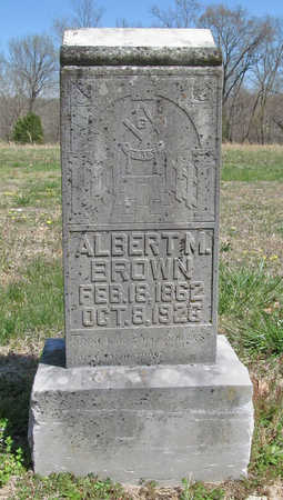 BROWN, ALBERT M - Benton County, Arkansas | ALBERT M BROWN - Arkansas Gravestone Photos