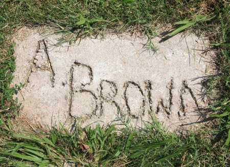 BROWN, A. - Benton County, Arkansas | A. BROWN - Arkansas Gravestone Photos