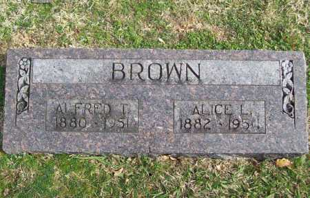 BROWN, ALFRED T. - Benton County, Arkansas | ALFRED T. BROWN - Arkansas Gravestone Photos