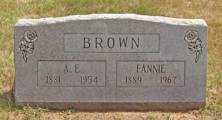 BROWN, FANNIE - Benton County, Arkansas | FANNIE BROWN - Arkansas Gravestone Photos
