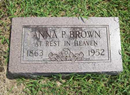 BROWN, ANNA P. - Benton County, Arkansas   ANNA P. BROWN - Arkansas Gravestone Photos