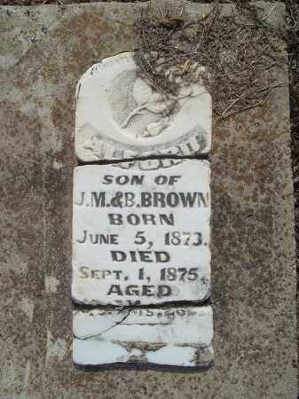 BROWN, ALFORD - Benton County, Arkansas | ALFORD BROWN - Arkansas Gravestone Photos