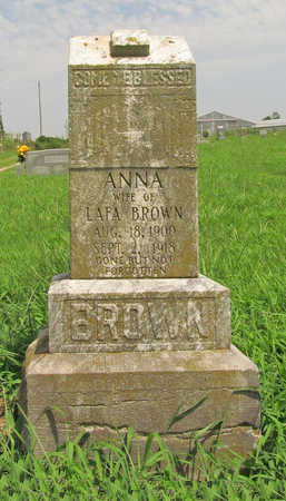 BROWN, ANNA - Benton County, Arkansas | ANNA BROWN - Arkansas Gravestone Photos