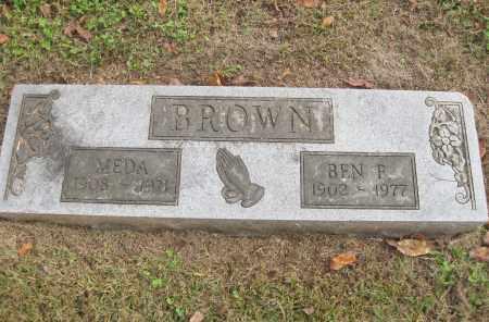 BROWN, BEN F. - Benton County, Arkansas   BEN F. BROWN - Arkansas Gravestone Photos