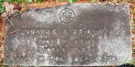 BROWN VETERAN WWII), BUSTER B - Benton County, Arkansas | BUSTER B BROWN VETERAN WWII) - Arkansas Gravestone Photos