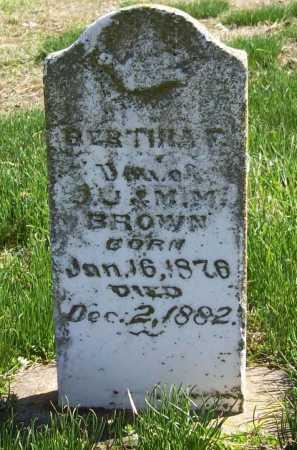 BROWN, BERTHA F. - Benton County, Arkansas | BERTHA F. BROWN - Arkansas Gravestone Photos