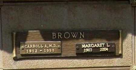 BROWN, MARGARET L. - Benton County, Arkansas | MARGARET L. BROWN - Arkansas Gravestone Photos