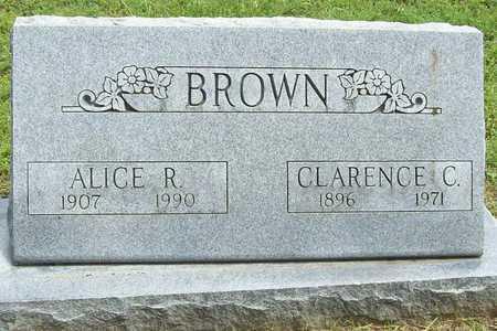 BROWN, CLARENCE C - Benton County, Arkansas | CLARENCE C BROWN - Arkansas Gravestone Photos
