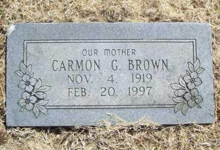 BROWN, CARMON G. - Benton County, Arkansas   CARMON G. BROWN - Arkansas Gravestone Photos