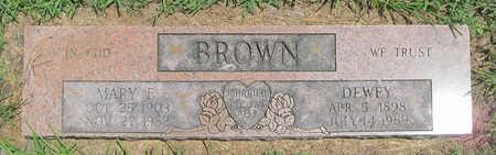 BROWN, MARY E - Benton County, Arkansas   MARY E BROWN - Arkansas Gravestone Photos