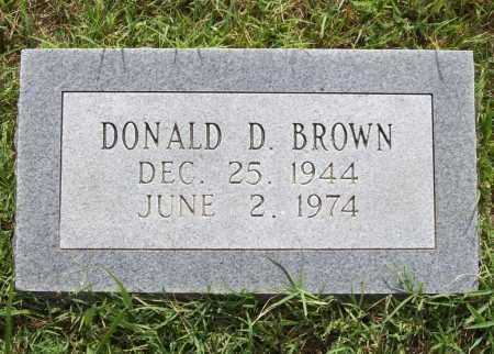 BROWN, DONALD D. - Benton County, Arkansas | DONALD D. BROWN - Arkansas Gravestone Photos