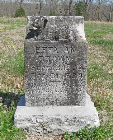 BROWN, EFFA AN - Benton County, Arkansas | EFFA AN BROWN - Arkansas Gravestone Photos