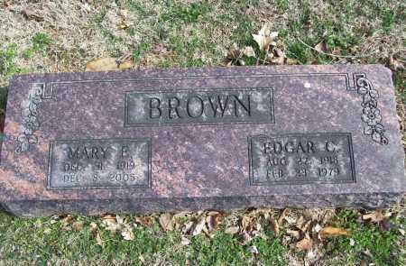 BROWN, EDGAR C. - Benton County, Arkansas | EDGAR C. BROWN - Arkansas Gravestone Photos