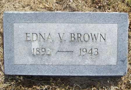BROWN, EDNA V. - Benton County, Arkansas | EDNA V. BROWN - Arkansas Gravestone Photos