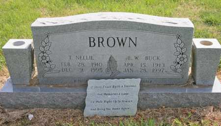 BROWN, T. NELLIE - Benton County, Arkansas | T. NELLIE BROWN - Arkansas Gravestone Photos