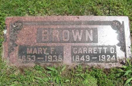 BROWN, GARRETT D. - Benton County, Arkansas   GARRETT D. BROWN - Arkansas Gravestone Photos