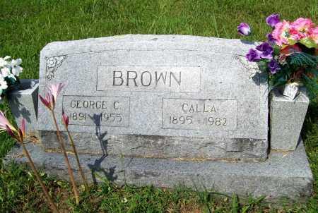 BROWN, GEORGE C. - Benton County, Arkansas | GEORGE C. BROWN - Arkansas Gravestone Photos