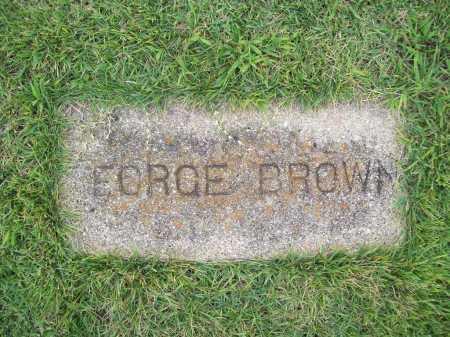BROWN, GEORGE - Benton County, Arkansas | GEORGE BROWN - Arkansas Gravestone Photos