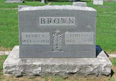 BROWN, EMMA J - Benton County, Arkansas   EMMA J BROWN - Arkansas Gravestone Photos