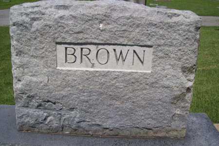BROWN, HEADSTONE - Benton County, Arkansas | HEADSTONE BROWN - Arkansas Gravestone Photos