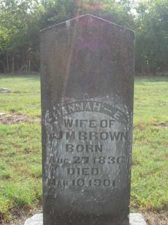 BROWN, HANNAH E. - Benton County, Arkansas | HANNAH E. BROWN - Arkansas Gravestone Photos