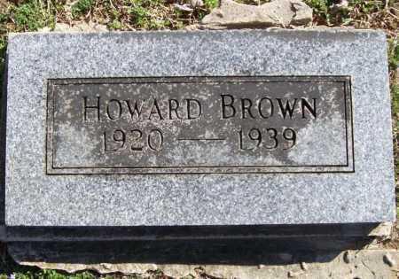 BROWN, HOWARD - Benton County, Arkansas   HOWARD BROWN - Arkansas Gravestone Photos