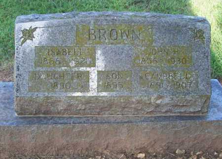 BROWN, JOHN H. - Benton County, Arkansas | JOHN H. BROWN - Arkansas Gravestone Photos