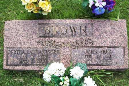 BROWN, JOHN FRED - Benton County, Arkansas   JOHN FRED BROWN - Arkansas Gravestone Photos