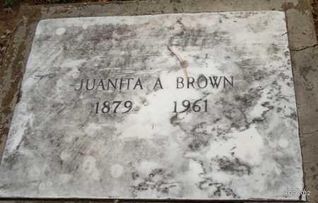 BROWN, JUANITA A. - Benton County, Arkansas | JUANITA A. BROWN - Arkansas Gravestone Photos