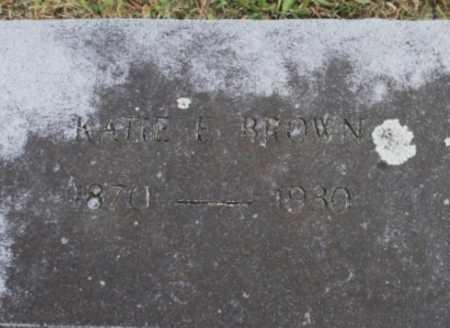 BROWN, KATIE E. (CLOSEUP) - Benton County, Arkansas | KATIE E. (CLOSEUP) BROWN - Arkansas Gravestone Photos