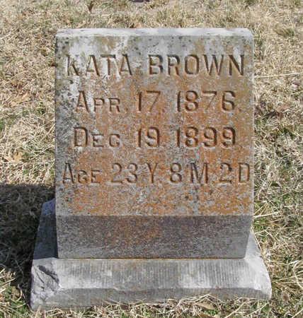 BROWN, KATA - Benton County, Arkansas | KATA BROWN - Arkansas Gravestone Photos