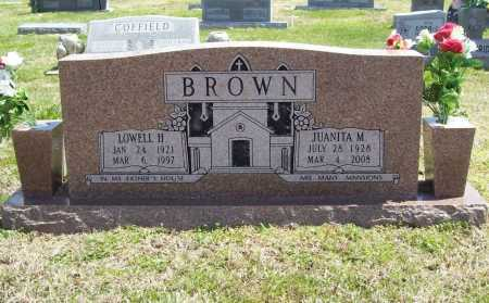 BROWN, JUANITA MAE - Benton County, Arkansas | JUANITA MAE BROWN - Arkansas Gravestone Photos