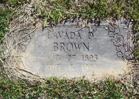 BROWN, LAVADA D. - Benton County, Arkansas | LAVADA D. BROWN - Arkansas Gravestone Photos