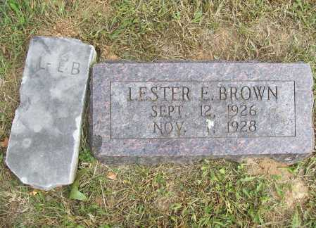 BROWN, LESTER EUGENE - Benton County, Arkansas | LESTER EUGENE BROWN - Arkansas Gravestone Photos