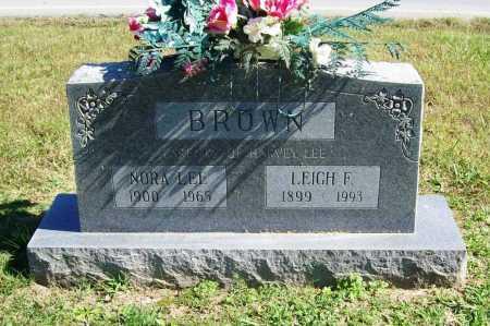 BROWN, LEIGH F. - Benton County, Arkansas | LEIGH F. BROWN - Arkansas Gravestone Photos