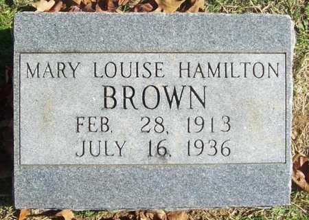 BROWN, MARY LOUISE - Benton County, Arkansas | MARY LOUISE BROWN - Arkansas Gravestone Photos