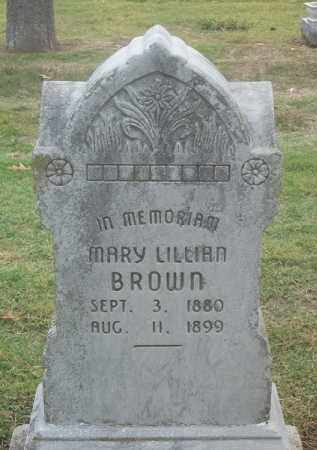 BROWN, MARY LILLIAN - Benton County, Arkansas   MARY LILLIAN BROWN - Arkansas Gravestone Photos