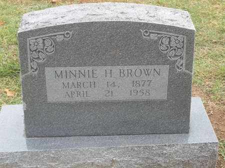 BROWN, MINNIE H. - Benton County, Arkansas | MINNIE H. BROWN - Arkansas Gravestone Photos