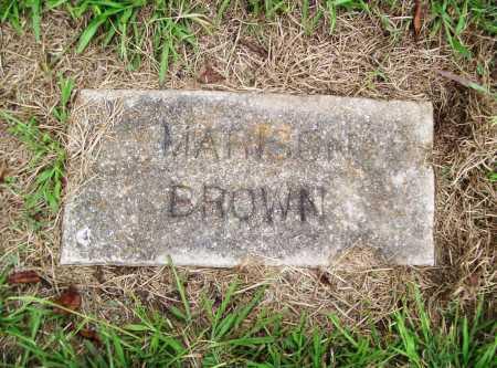 BROWN, MARISON - Benton County, Arkansas | MARISON BROWN - Arkansas Gravestone Photos