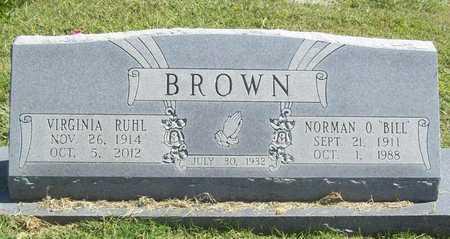 BROWN, NORMAN O - Benton County, Arkansas   NORMAN O BROWN - Arkansas Gravestone Photos