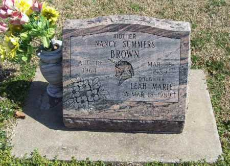 SUMMERS BROWN, NANCY - Benton County, Arkansas | NANCY SUMMERS BROWN - Arkansas Gravestone Photos