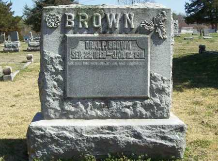 BROWN, J. P., DR. - Benton County, Arkansas | J. P., DR. BROWN - Arkansas Gravestone Photos
